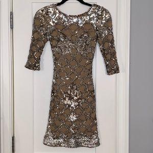 JOVANI Sequin Mini Dress